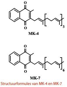 Molecuulstructuur MK-4 en MK-7